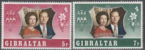 Gibraltar #292-3  MNH F-VF  (V44)