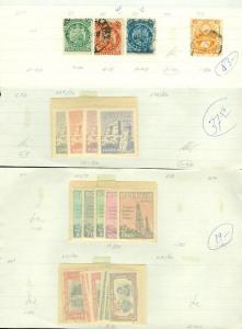 EDW1949SELL : BOLIVIA Nice Old Time collection on approval pages. Scott Cat $214