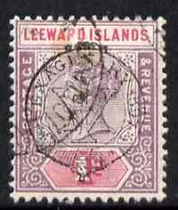 Leeward Islands 1897 QV Diamond Jubilee 1d fine used, SG10