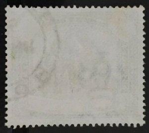 MALAYA 1898 PERAK Elephants & Howdah $3 Used SG#78 M2891
