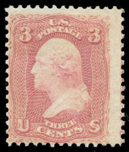 momen: US Stamps #64 Mint OG SCARCE PF Cert
