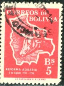 BOLIVIA #384, USED - 1954 - BOLIVIA067