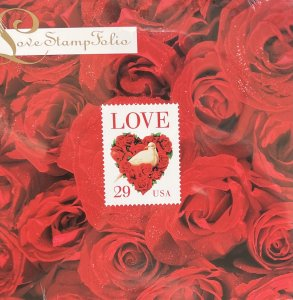 US Stamp Folio 1994 Love with 4 of 2814 & 1 of 52c 2815