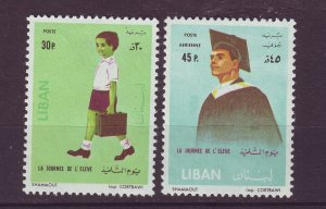 J24044 JLstamps 1962 lebanon set mh #404,c355 school