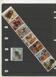 PARAGUAY STAMPS MNH  1976 COWBOYS & INDIANS SET 52 0419
