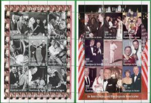FRANK SINATRA an American Legend Two Sheets of 9 MNH Guinea E45 -46