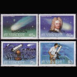 St.Vincent MNH 918-21 Halley's Comet 1986 SCV 3.45