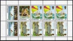 Guernsey 296a sheet,MNH.Michel H-Blatt 26. St Apolline Chapel,Petit Port,Havelet