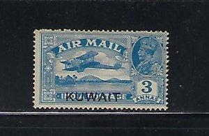 KUWAIT SCOTT #C2 1933-34  3A INDIA AIR POST STAMP OVERPRINTED KUWAIT MINT XLH