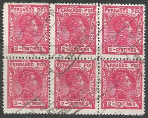 FERNANDO POO 153 BK OF 6 SANTA ISABEL CDS K315-2