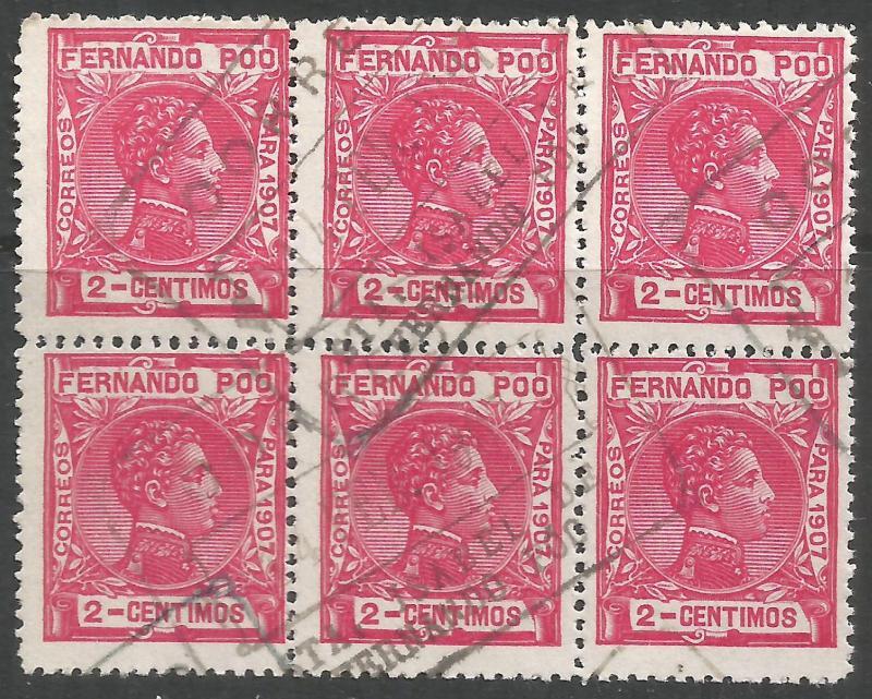 FERNANDO POO 153 BK OF 6 SANTA ISABEL CDS K315-2