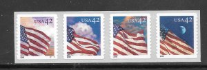 #4240-43 MNH Control #05700 on Back Strip of 4
