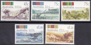 Australia #1253-7 MNH  CV $7.05  (A19780)