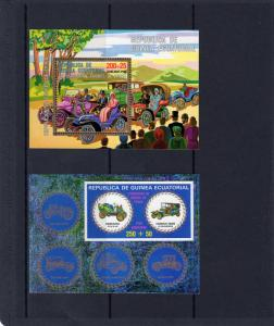 Equatorial Guinea 1976 Classic Cars s/s Perforated + Imperforated mnh.vf
