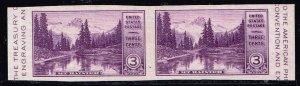 US STAMP #750a – 1934 3c Mt Rainier, imperf  MNH/OG PAIR