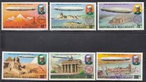 Madagascar,  MNH, Sc 545-548, C158-C160, Zeppelins