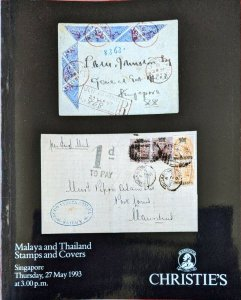 Auction Catalogue MALAYA and THAILAND Stamps and Covers