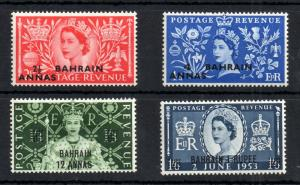 Bahrain QEII 1953 Coronation mint MNH set #90-93 WS13486