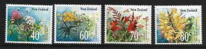 NEW ZEALAND 942-945 MNH WILDFLOWERS SET