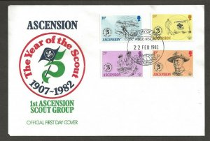 1982 Boy Scouts Ascension 75th anniversary FDC