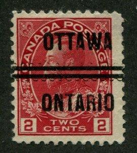 CANADA PRECANCEL OTTAWA 1-106 OFFSET