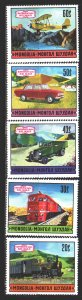 Mongolia. 1971. 643-47 from the series. Transport. MNH.