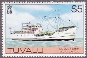 Tuvalu 37 Colony Ship M.V. Nivanga 1976