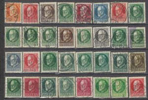 COLLECTION LOT OF #1356 BAVARIA 32 STAMPS 1914+ CLEARANCE CV+$64