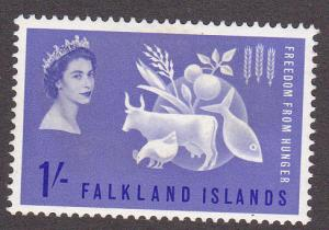 Falkland Islands # 146, Freedom from Hunger, Mint LH, 1/3 Cat.