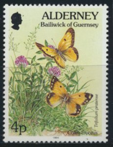 GB Alderney  SG A63 MNH  4p Clouded Yellow  Butterfly 1994 SC# 73 See scan