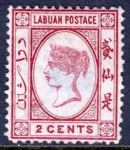 Labuan - Scott #17 - MH - Thin, pencil on reverse, rounded corner LL - SCV $4.25