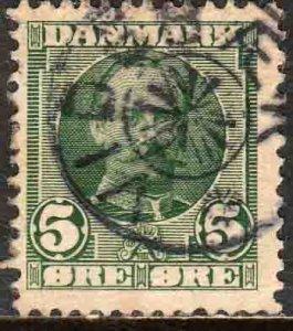 Denmark 72, 5o King Frederik VIII. Used. F (258)