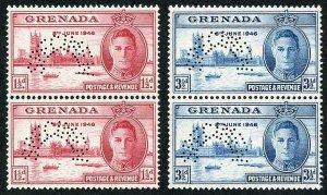 GRENADA SG164s/5s 1946 Victory PAIR SPECIMEN U/M VERTICAL PAIRS