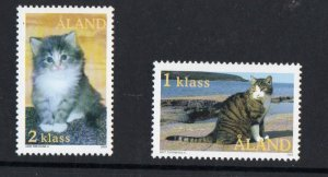Aland Finland Sc 210-11 2003 House Cats stamp set mint NH