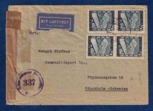 AUSTRIA SC 470 TWO HORIZ. PAIRS ON A PHILATELIC COVER (1945):