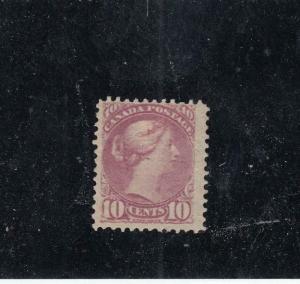 CANADA (KSG284) # 40a F-MH 2cts 1880 VICTORIA SMALL QUEEN /MAGENTA CAT VAL $500