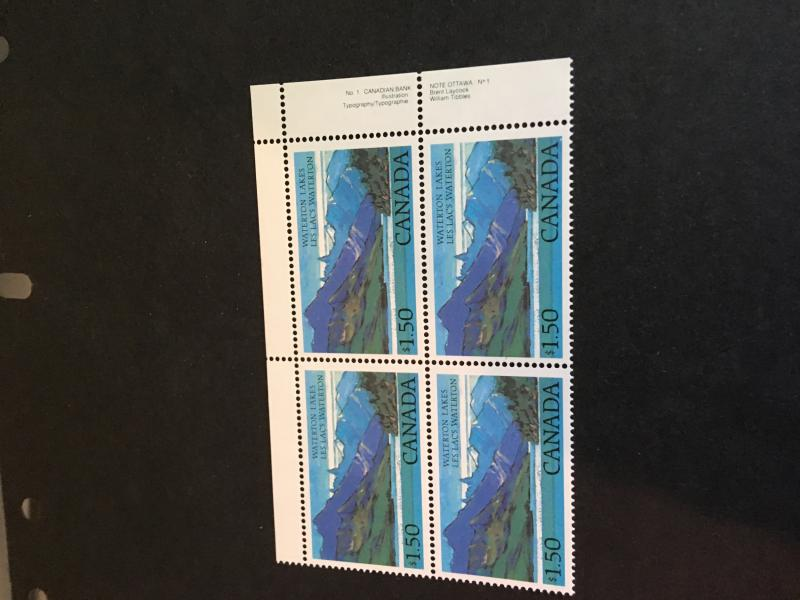 Canada #935, 935i Mint VF-NH UR $1.50 Waterton Lakes PB - LL stamp Shows Beacon