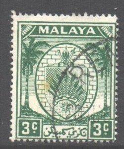Malaya Negri Sembilan Scott 40 - SG44, 1949 Arms 3c used