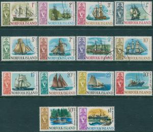 Norfolk Island 1967 SG77-90 Historic Ships set FU
