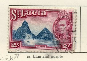 St Lucia 1938-48 GVI Early Issue Fine Used 2S. NW-154983