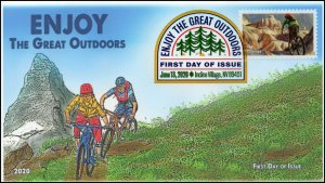20-114, 2020, Enjoy the Great Outdoors, Digital Color Postmark, First Day Cover,