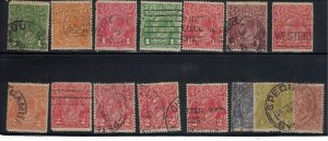 73 - Australia (5 P) 1926 - Postage stamps King George V - Different Watermark [