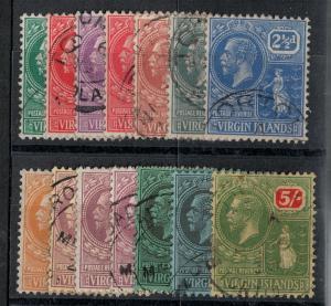 Virgin Islands 1922 SC 53-66 Used Set SCV $273