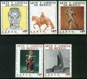 MEXICO C527-C531 Art and Science (Series 6) MINT, NH. VF.