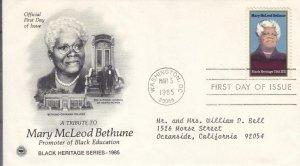 1985, Tribute to Mary McLeod Bethune, PCS, FDC (E8565)