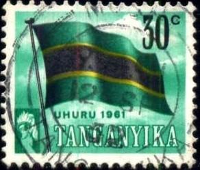Flag, Tanganyika stamp SC#49 used