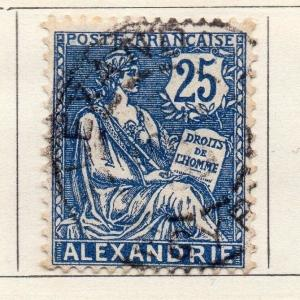 Alexandria 1902-13 Early Issue Fine Used 25c. 054468