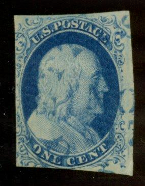 9 Used F-VF Blue Cancel Cat$85