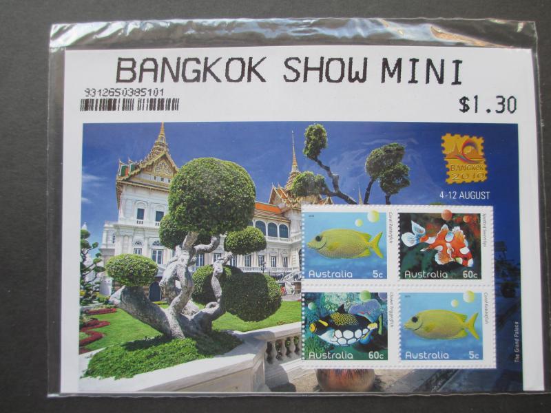 AUSTRALIA 2010 BANGKOK SHOW MINI SHEET AS ISSUED