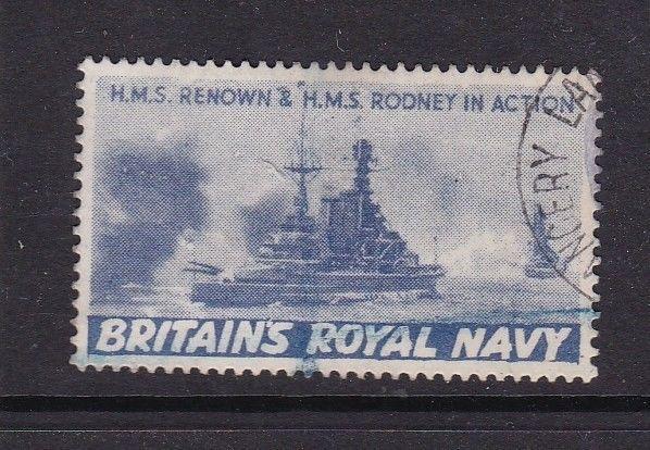 Britains Royal Navy HMS Renown & Rodney in action Wartime Cinderella VFU